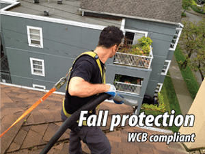Gutter Cleaning WCB Fall Protection Compliant