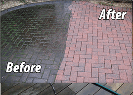 before and after power washing