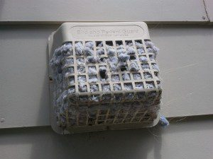 a stuffed dryer vent
