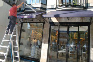 photo of awning cleaning in vancouver