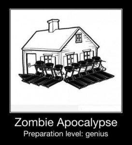 a funny photo of a zombie apocalypse