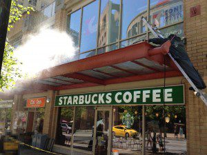 cleaning a starbucks cafe in vancouver