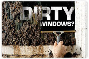 a photo of dirty windows being taken care of