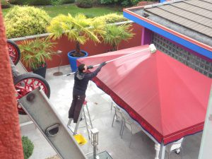 Professional residential awning cleaning