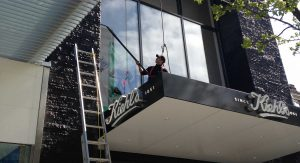 Retail window cleaning services